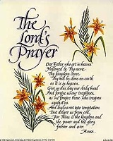 The Lords Prayer, Art Print 8x10