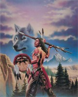 Wolf Spirit, Art Print by Simon Dewey 8x10