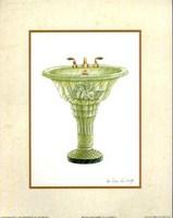 Antique Washbasin I, Art Print by Richard DeWolfe 8x10
