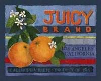Orange Crate Label, Art Print by Nancy Overton 8x10