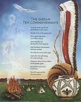 Indian Ten Commandments, Art Print 8x10