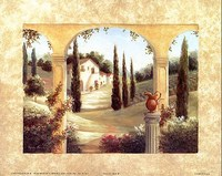 Tuscan View II, Art Print by Vivian Flasch 22x28