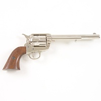 Old West M1873 Nickel Finish Cavalry Barrel Replica Revolver