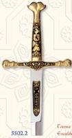 Miniature Damascene Carlos V Sword Letter Opener by Marto of Toledo Spain