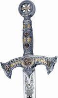 Templar Knight Silver Sword by Marto of Toledo Spain