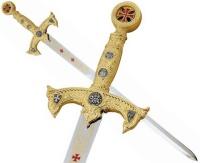 Templar Knight Gold Sword by Marto of Toledo Spain